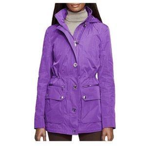 Ralph Lauren Purple Midi Taffeta Jacket